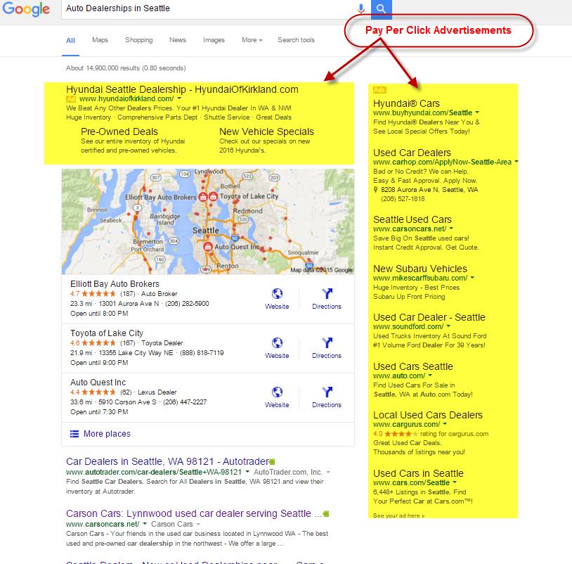 Pay Per Click Advertisements