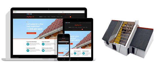 roofing website design, roofer responsive web design service
